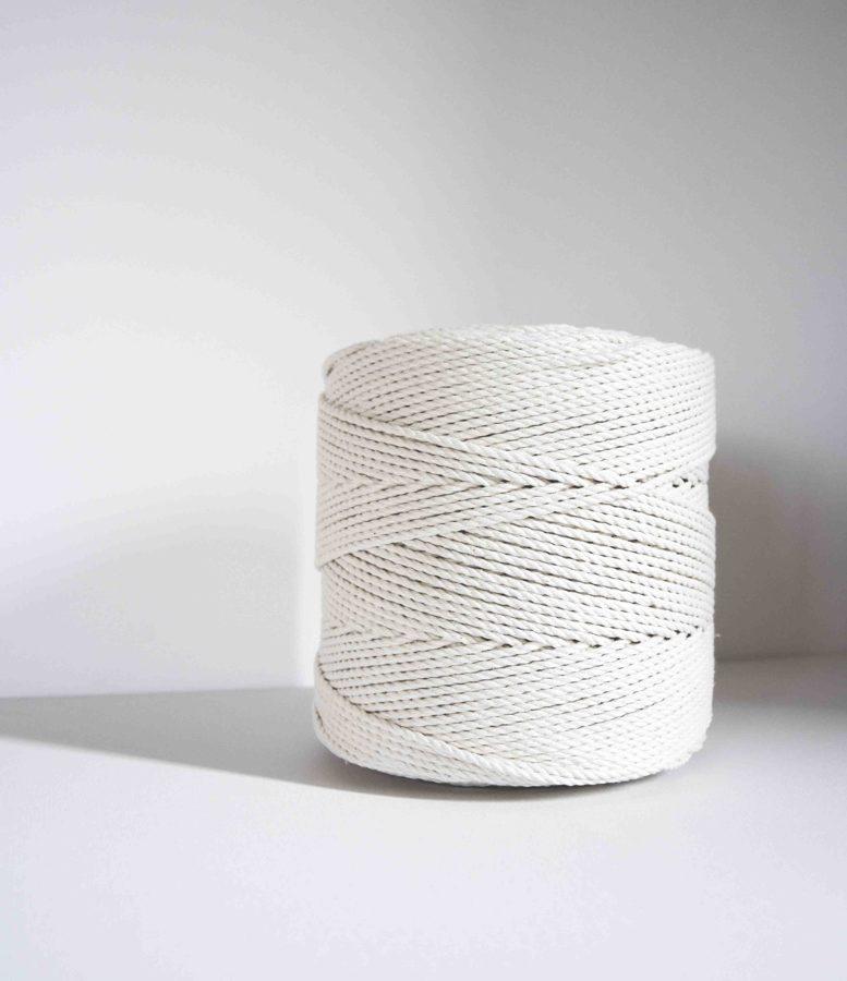 3 mm sukta medvilninė virvė
