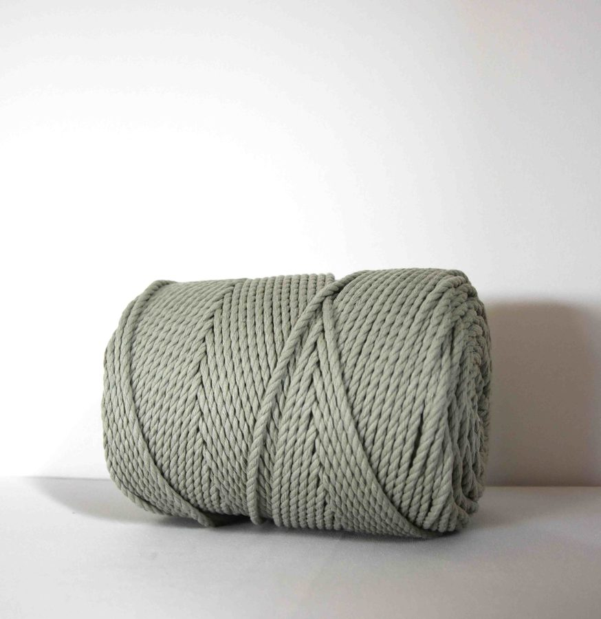 Three-ply cotton cord. Dusty green