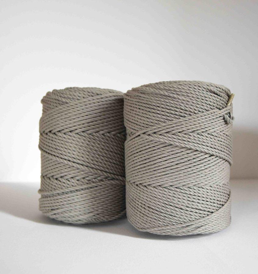 Sukta medvilninė virvė. Šviesiai pilka