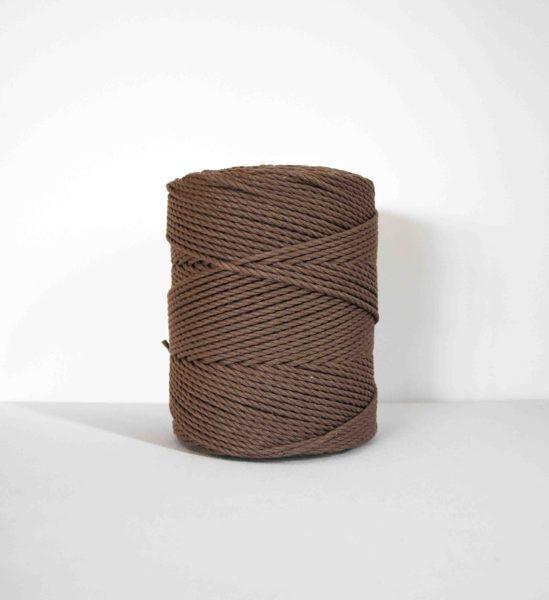 Sukta medvilninė virvė. Ruda