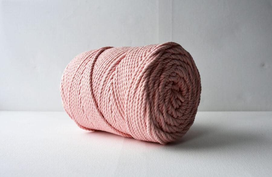 Three-ply cotton cord. Salmon